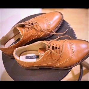Zara Faux Leather Oxfords